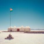 Hotell av salt i utkanten av saltöknen Salar de Uyuni, Bolivia. Jag associerade direkt till ishotellet i Jukkasjärvi. I dag finns flera hypade salthotell i grannskapet, men vid mitt besök fanns bara detta.