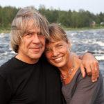 Kukkolaforsen - och hela Tornedalen - är en favoritplats för mig. Här med hustrun Angela.