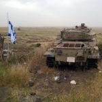 Minne från sexdagarskriget 1967. Gränsen mot Syrien går en bit ute på slätten.