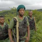Vakter i Hluhluwe-Umfolozi nationalpark, med rätt att döda tjuvskyttar och andra våldsverkare. Tidigare elitsoldater från den berömda zulubataljonen, Sydafrika. Fotograf Gerhard Jörén.